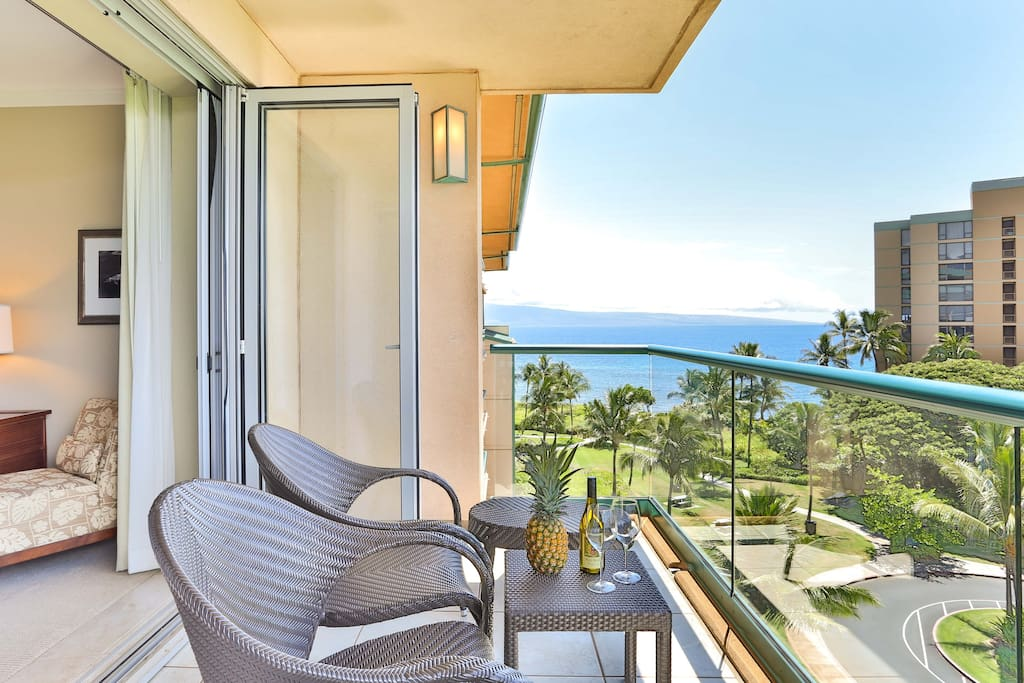Watch the surfers from your lanai