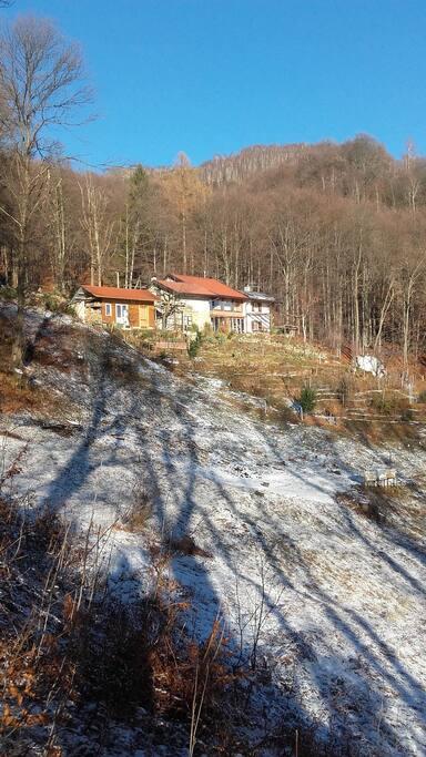 La casa nel periodo invernale