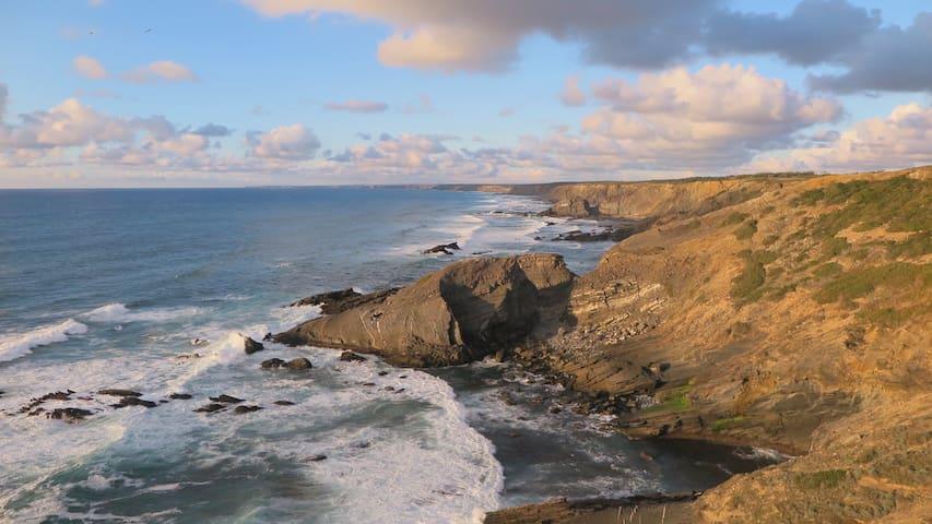 """Rocha quebrada"", the broken rock, a stunning view of the coastline"