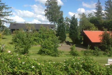 Nyrenoveret sommerhus med en fantastisk udsigt. - Højslev - Blockhütte