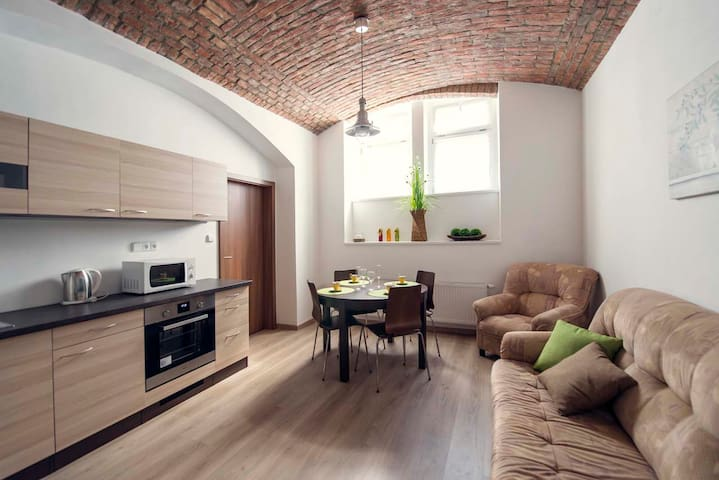 Modern and roomy apartment close to the center