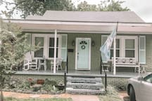 Our home is a 1947 bungalow style nestled on a quiet side street in mid city. We are located within walking distance to Government street which is home to grocery stores, restaurants, and cool shops.