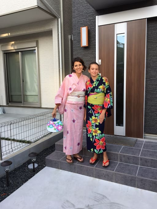 If you want to wear a Kimono, my wife will lend you her Kimono and she will put on you Kimono.