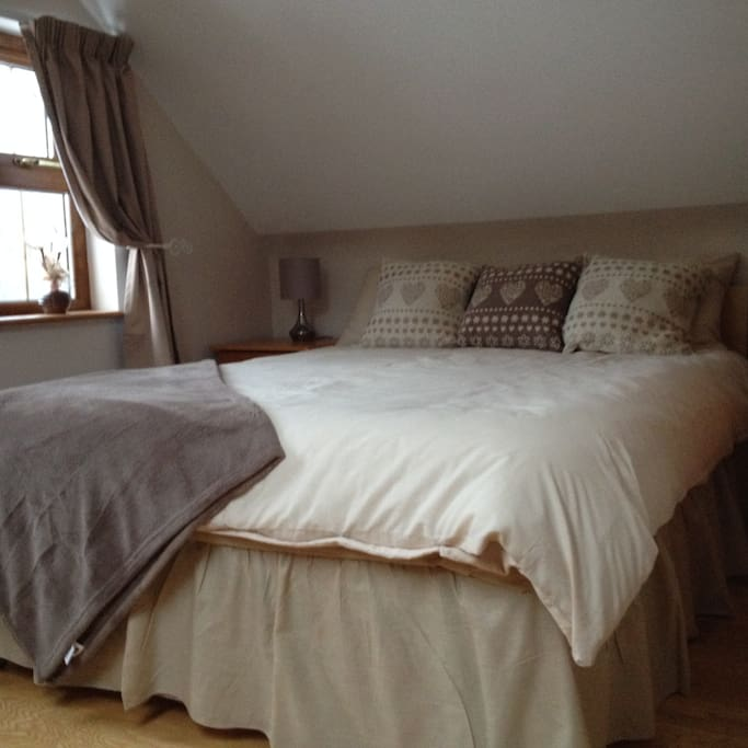 Small Quirky bedroom with sloped ceiling 2nd Foor, Private Exterior bathroom on 1st floor