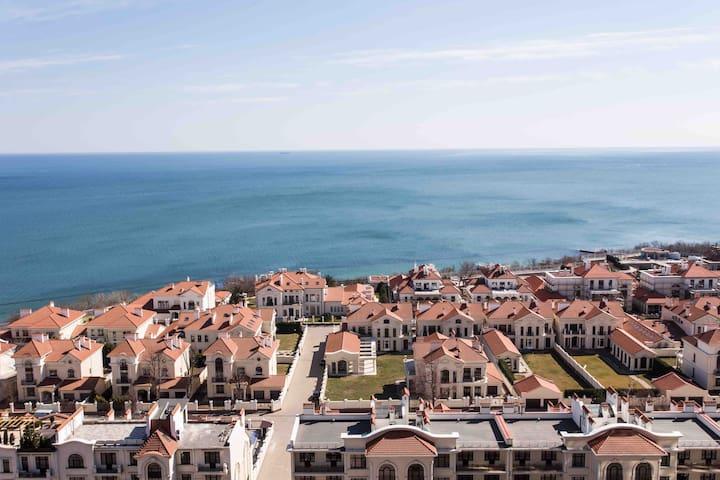 The flat near sea with a balcony
