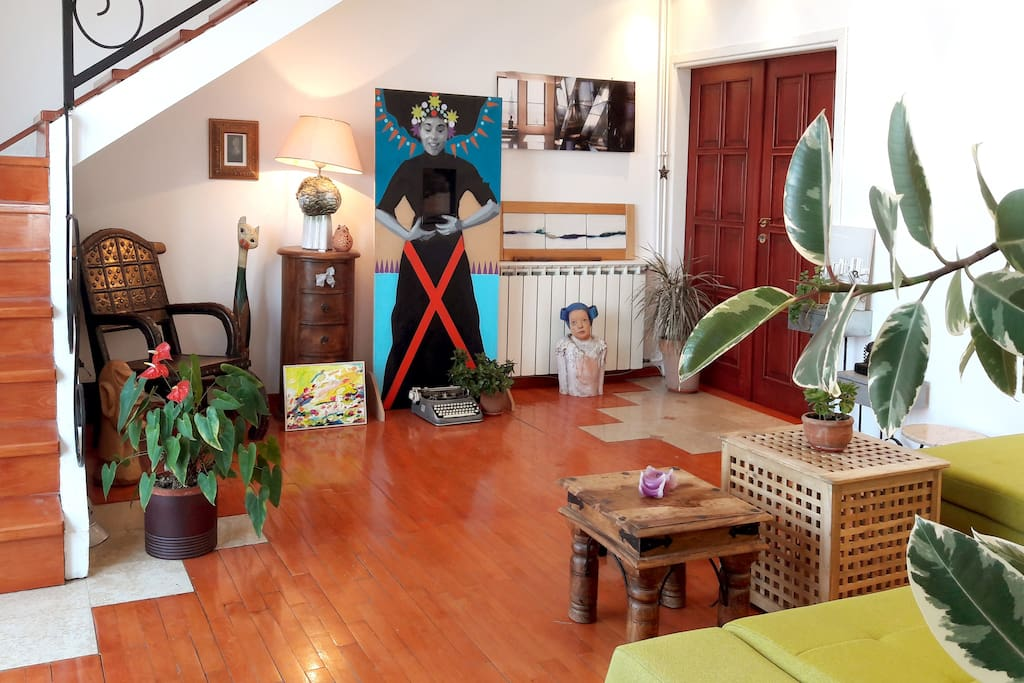 LIVING ROOM featuring artwork by contemporary Serbian artists