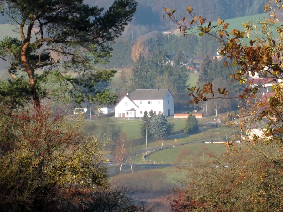 Ons huis in de herfst