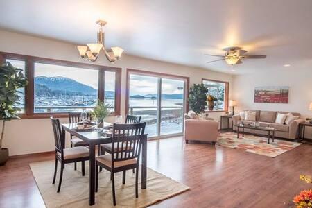 Oceanfront Home overlooking Auke Bay Harbor