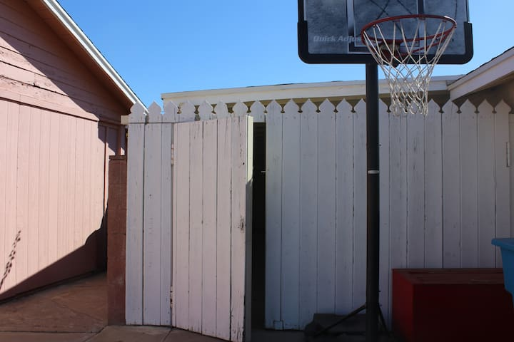 Personal side gate entrance