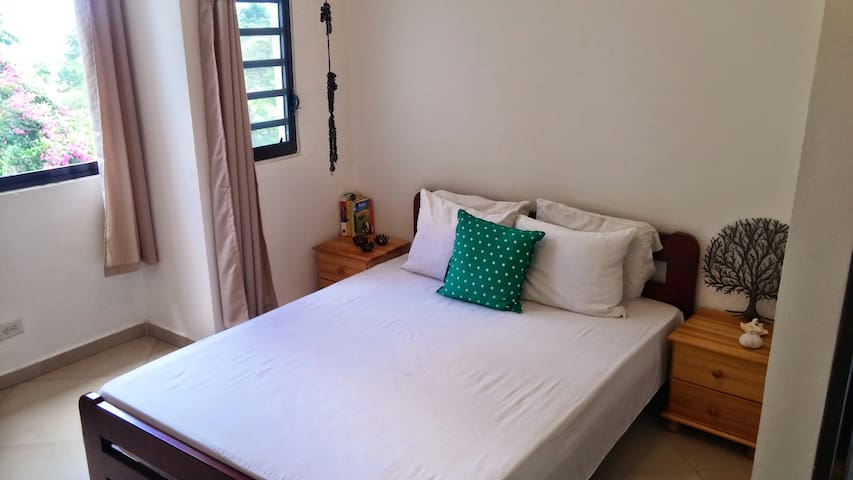 Comfortable bedroom with ensuite bathroom and AC - Port-au-Prince - Huis