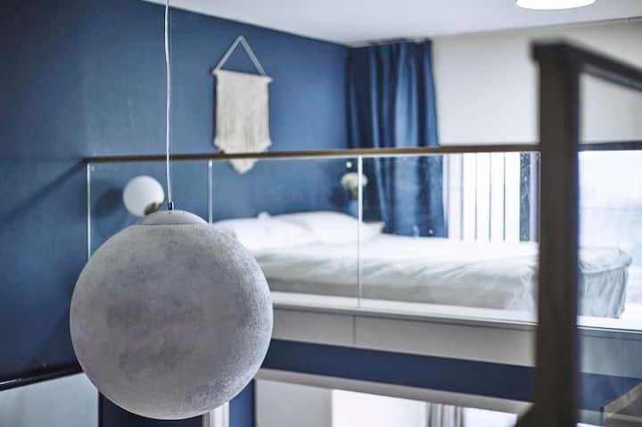【三居室loft公寓】【轻奢北欧简约风】【100寸投影】城西银泰旁
