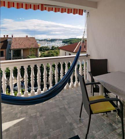 Ivo Apartments A6 - Balkon, Hängematte, Meerblick