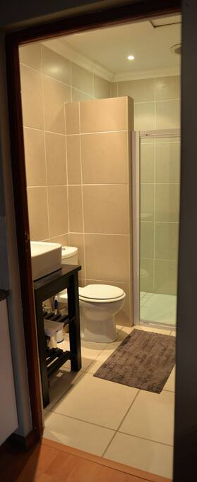 Large Shower, Washbasin, Toilet