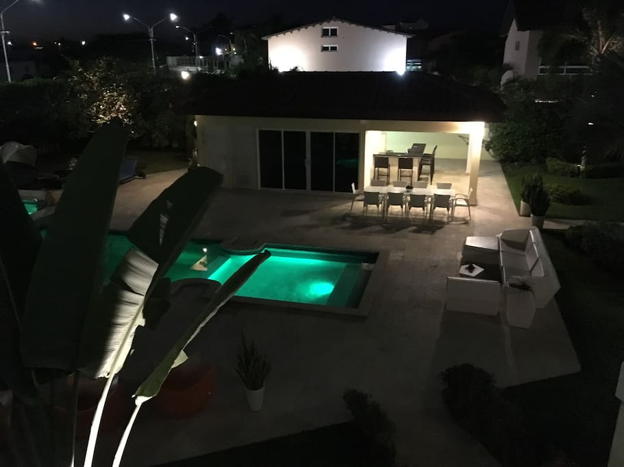 Pool View From Deck