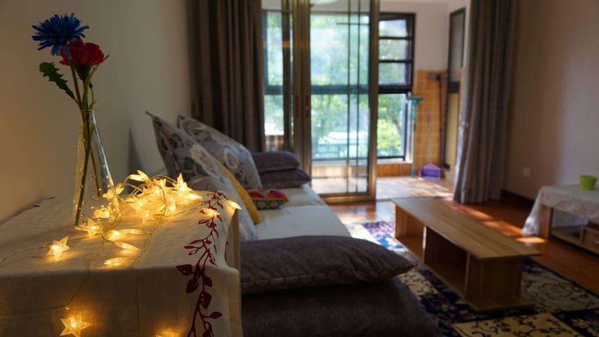 夏至~home 近地铁2.4号线,百瑞景社区大两房 - Wuhan - Apartament