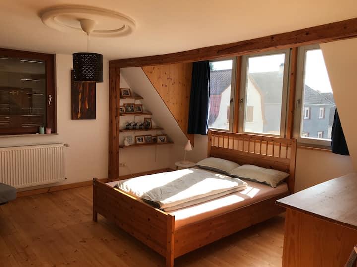 Zimmer mit Hof und Garten