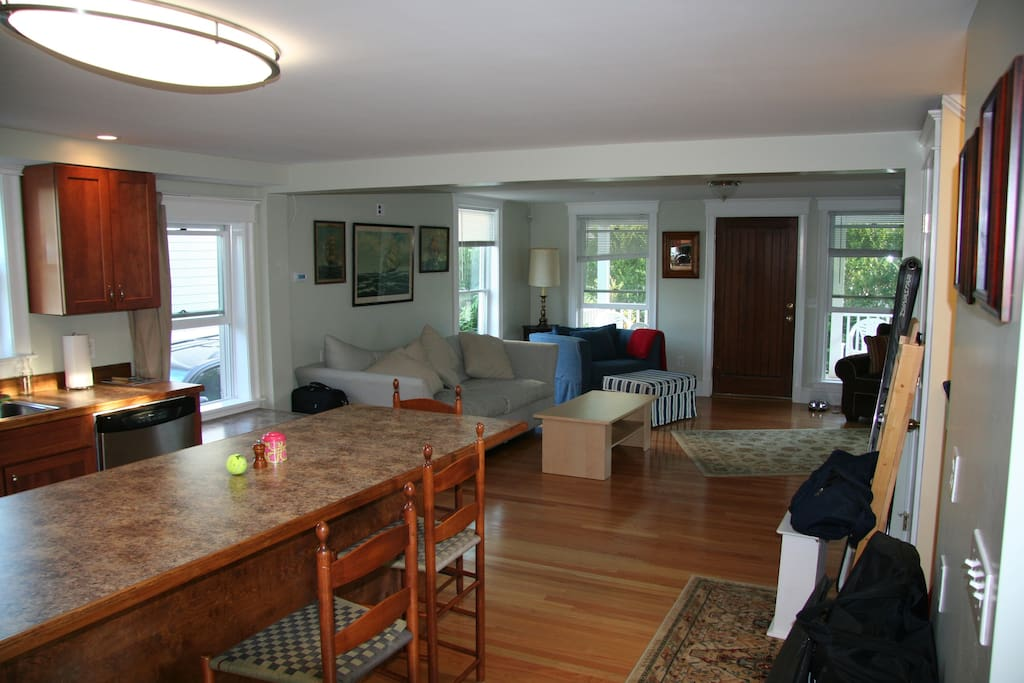 Newly renovated, sun-drenched open floor plan for socializing