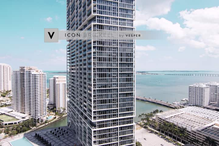 Vesper | ICON Brickell | Wonderful Condo +Pool SPA