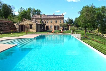 Ca' della Fonte apartment in villa with pool - Morro d'Alba - Apartamento
