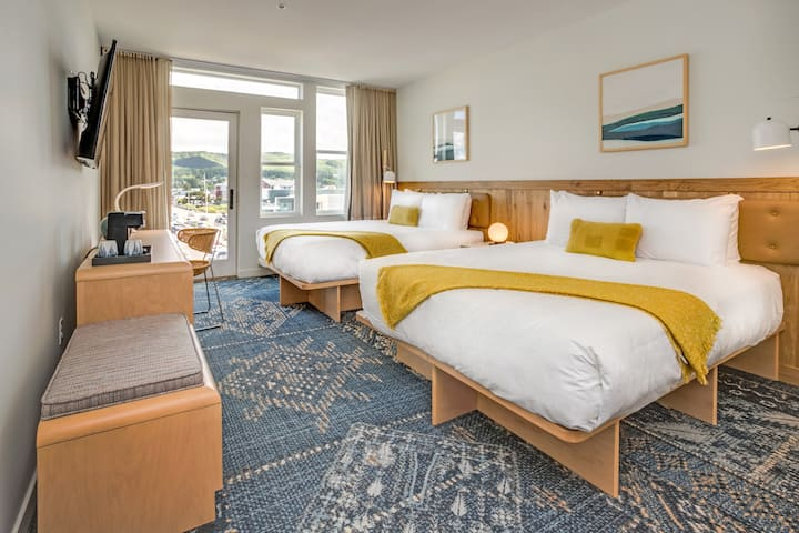 Spacious ADA Two Queen Room at SaltLine Hotel