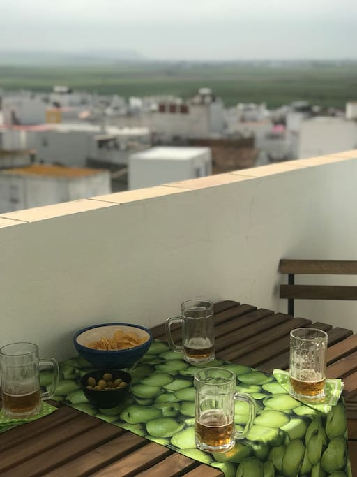 La terraza de la casa