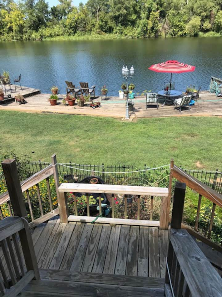 Our Happy Place at Coach Hand's River Porch!
