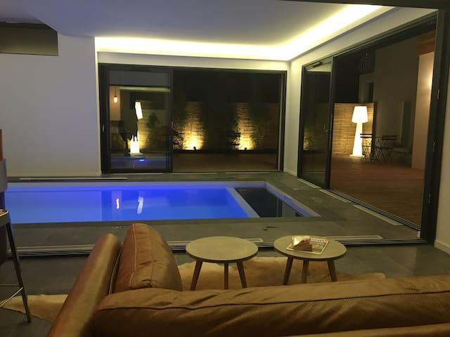 Suite 4 personnes maison d'hôtes Villa Pradelle - Clermont-Ferrand - Rumah
