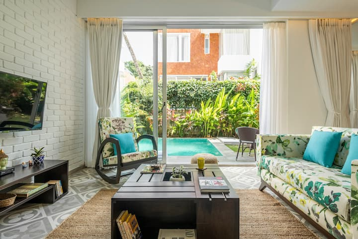 Private Pool modern villa - 10min from beach