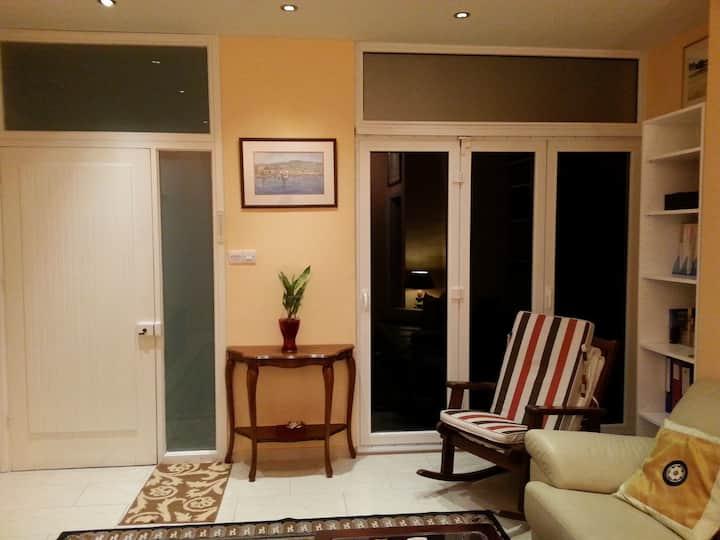 Room own bathroom & door to garden