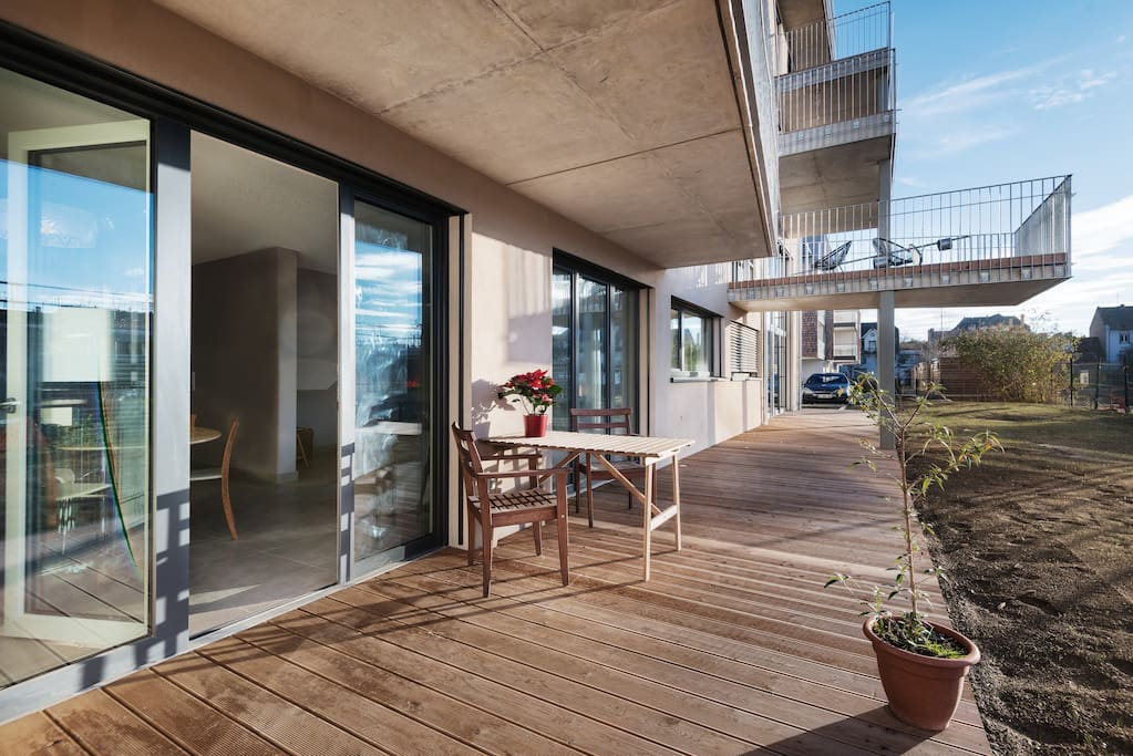 Terrasse/jardin de plein pied