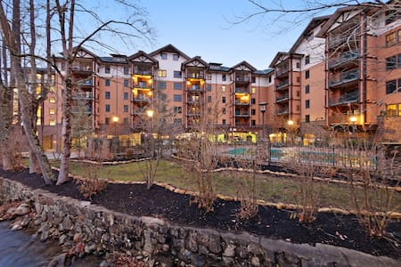 Deluxe downtown condo w/ fireplace, jetted tub & shared pool/hot tub!