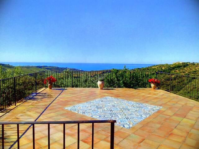 sea view house in sicilian countryside