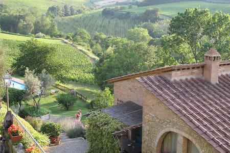 Spacious 1BR Apt in Organic Chianti Farm with Pool - Tavarnelle Val di Pesa - Wohnung