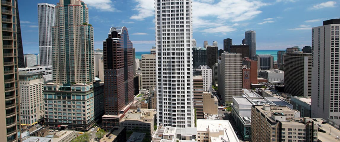 Private 1BR-1BA Modern HighRise Downtown w Balcony