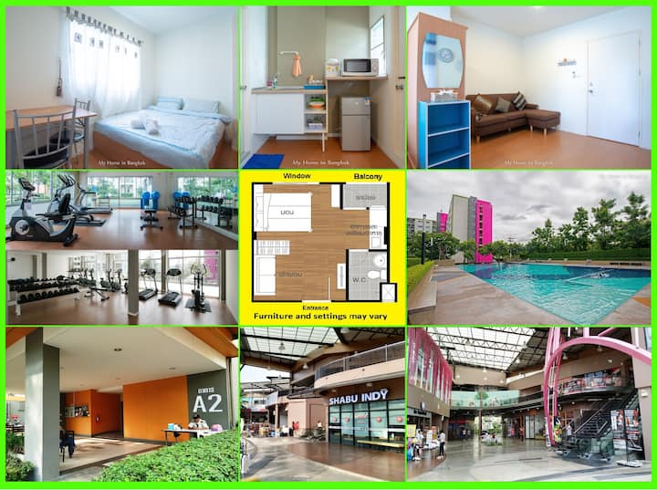 "Family Apartment ""My Home In Bangkok"" A7/113"
