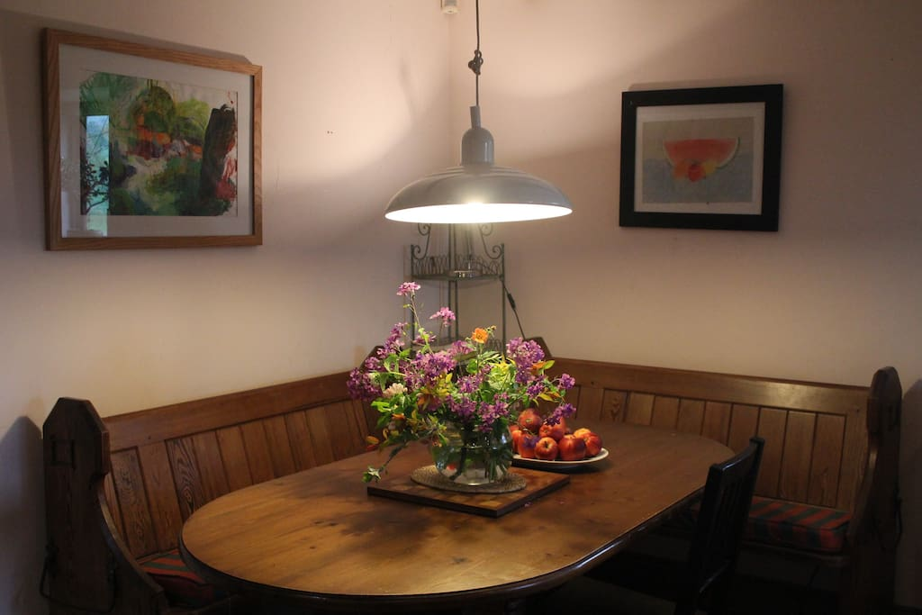 Cosy kitchen dining area seats 8