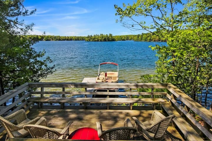 Enjoy 200 Feet of Private Frontage on Spider Lake
