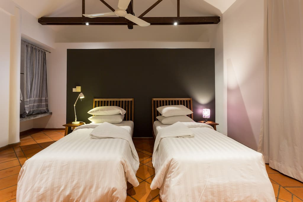 Beds option: twin beds or double bed. And additional single bed can be added for a third guest (additional fees applied).