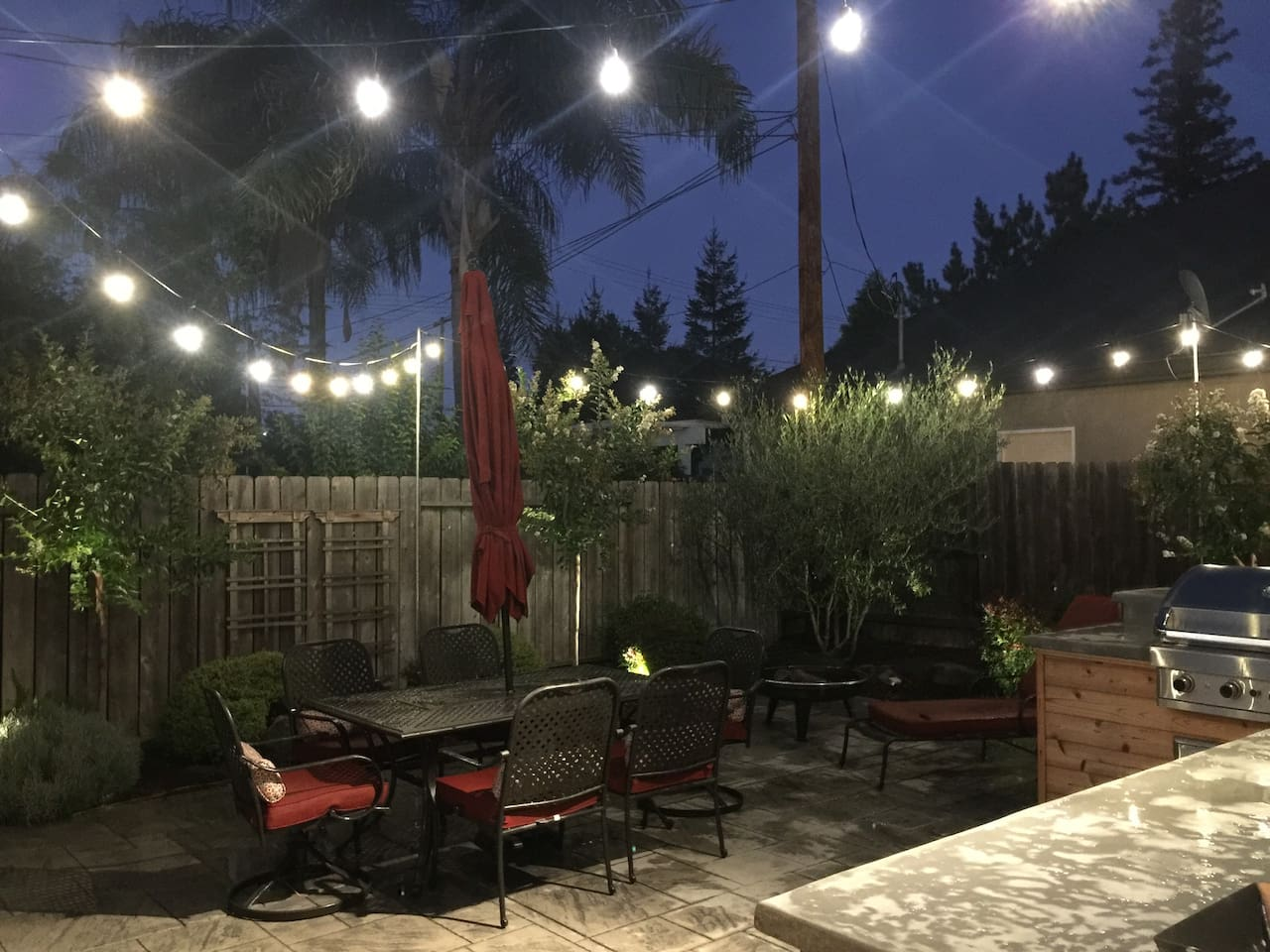 Gorgeous well lit backyard all amenities
