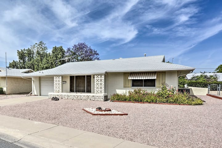 Classic 2BR Sun City House w/Covered Patio & Yard