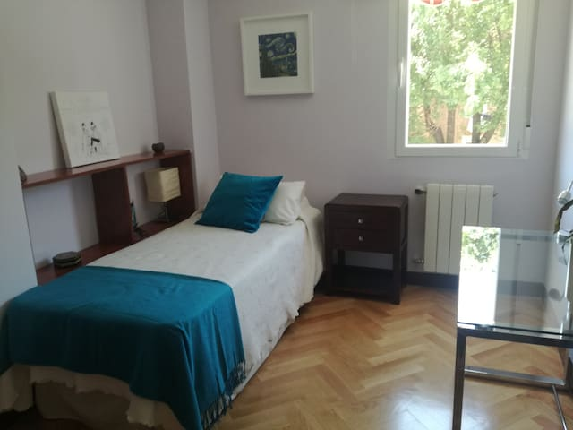 Quiet and Bright Room with private Bath in Madrid