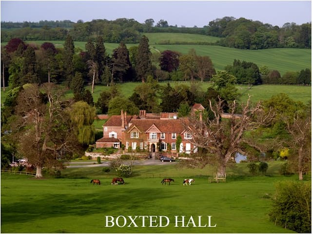 Boxted Hall, moated manor house. - Suffolk