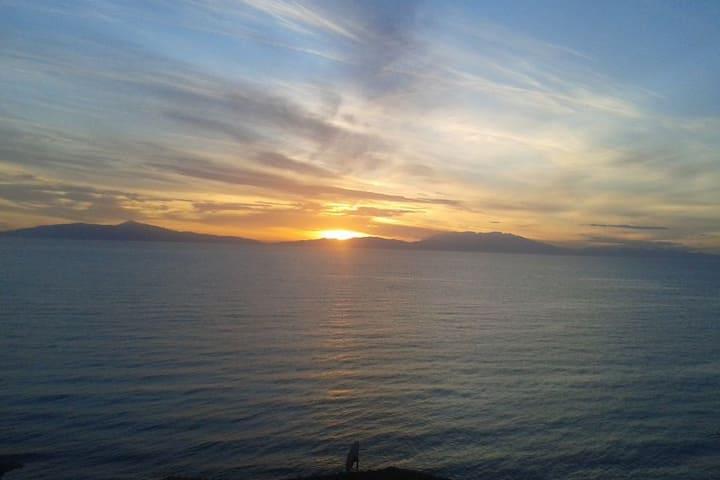 Siviri, the beautiful sunset
