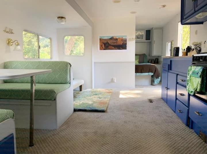 Glamping @ cozy & bright Mallard RV, Saddle Peak.