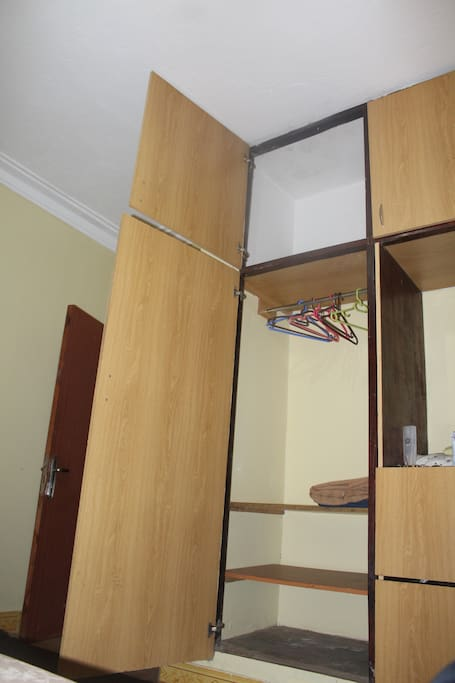 Large size wardrobe, you can fit in all your clothes.