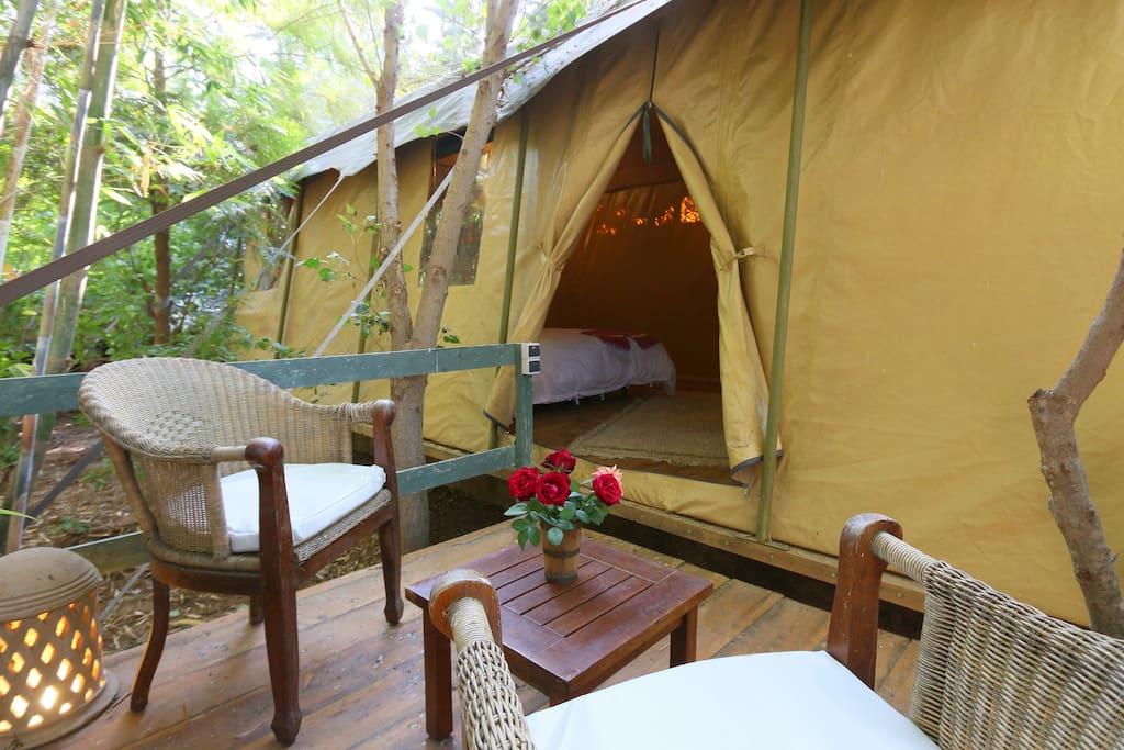 terrasse privée tente 1