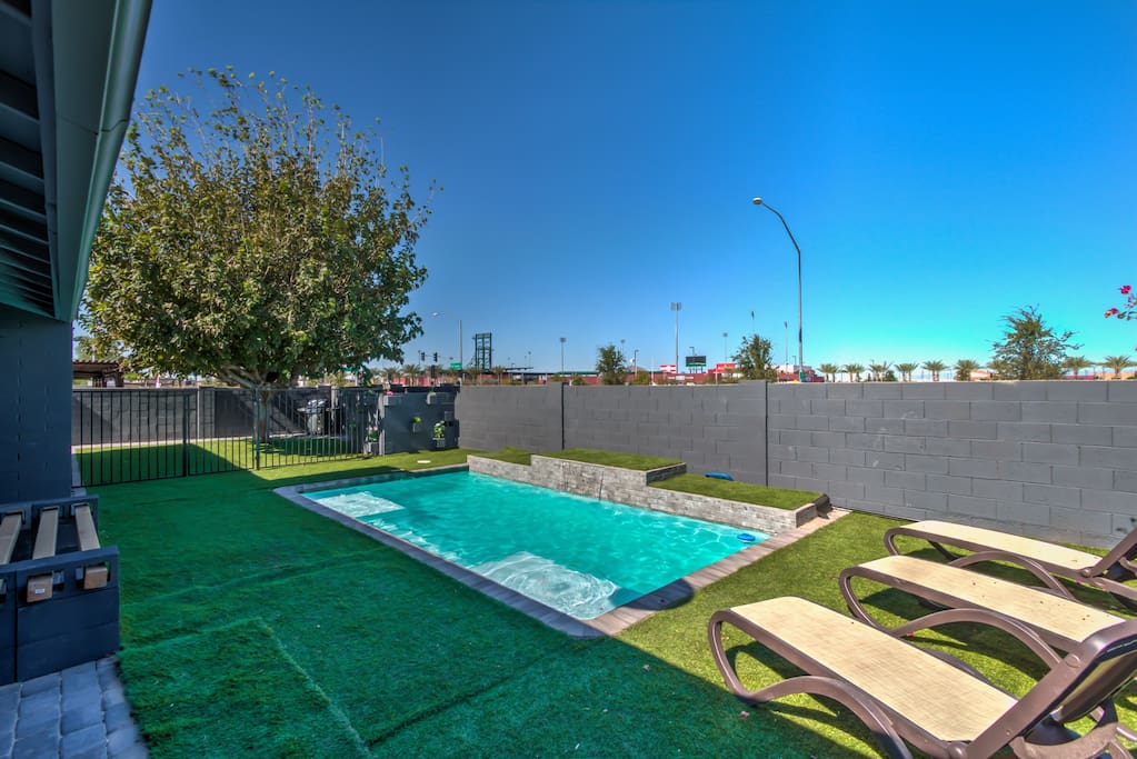 Closest home chicago cubs spring training and asu houses for Indoor pool mesa az