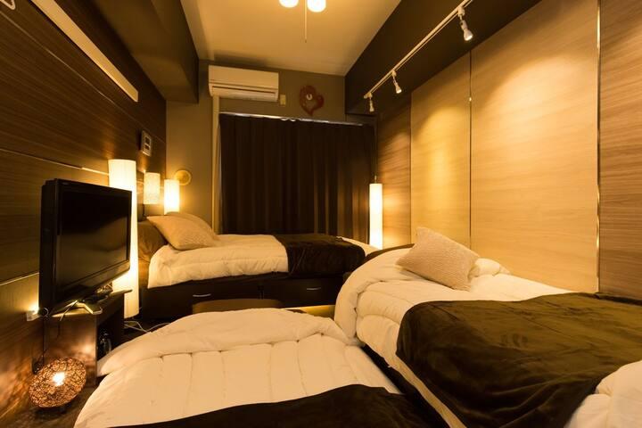StudioApt nr2STAs&Minato Mirai 4min>Yokohama WiFi - Naka-ku, Yokohama-shi - Apartamento