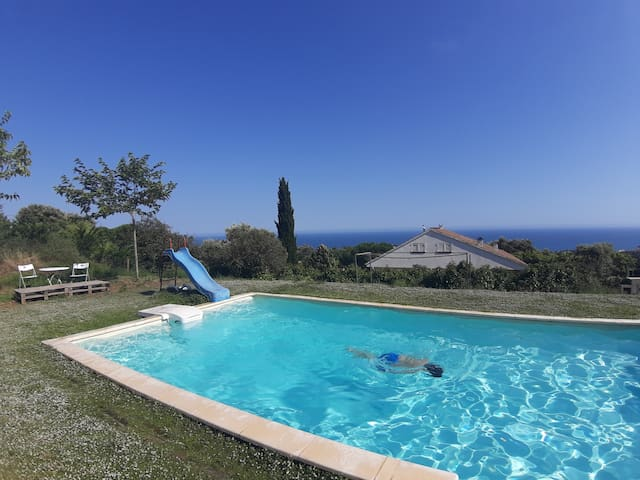 Accomodation: nature, pool, animals and sea