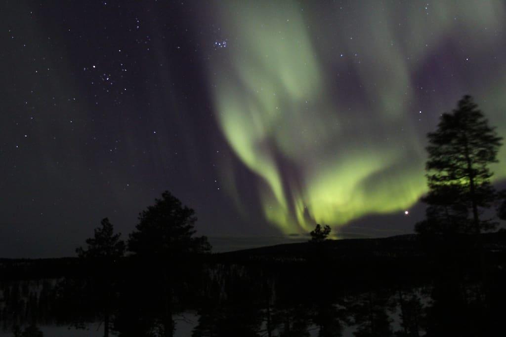 Nordlicht von Terrasse aus